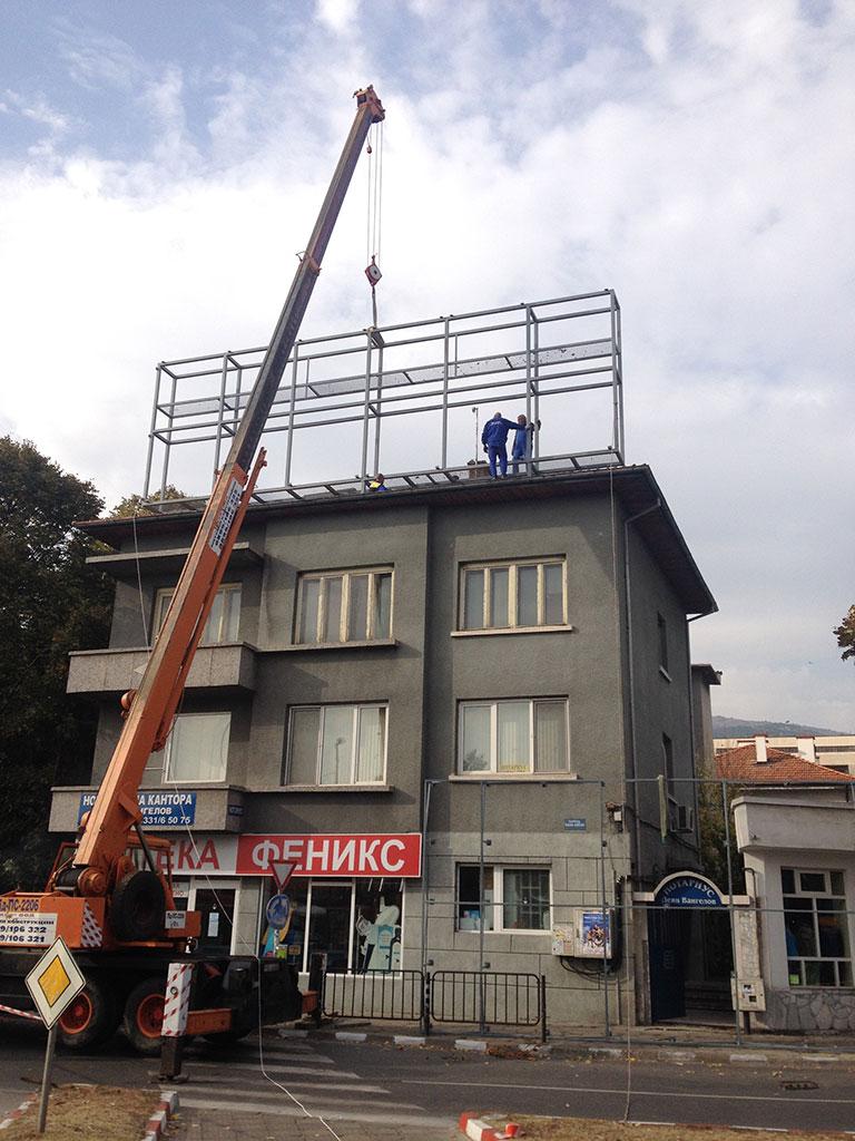 Метална конструкция за билборд