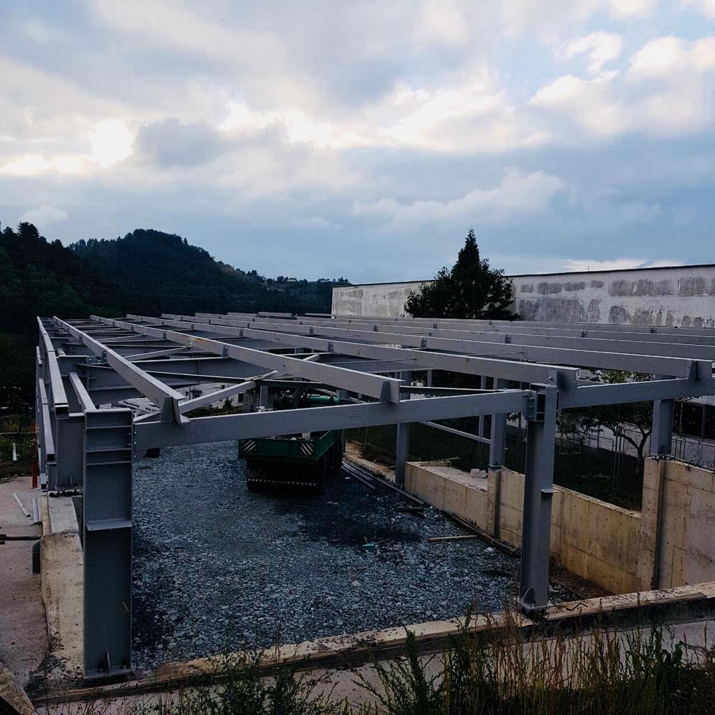 Строеж на цех за дървообработване