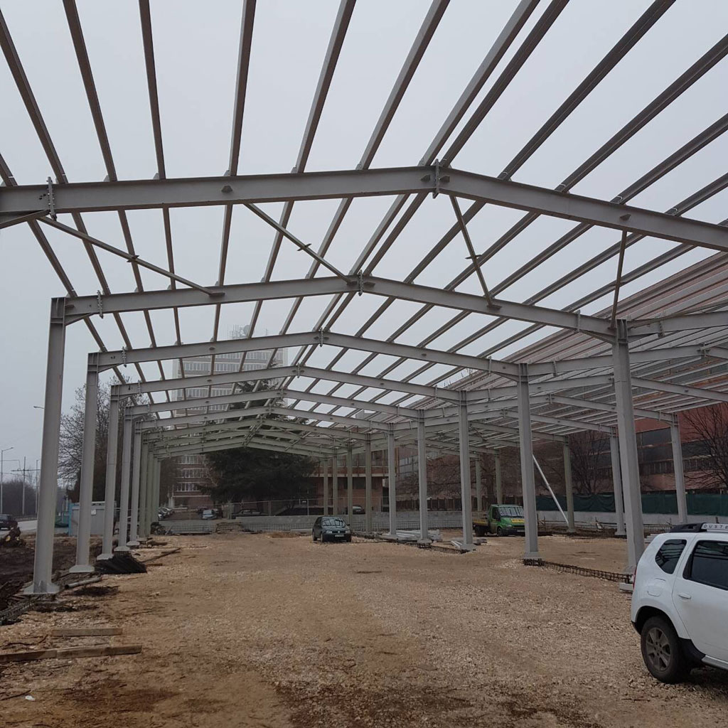Factory for pergola systems production from aluminum and metal constructions